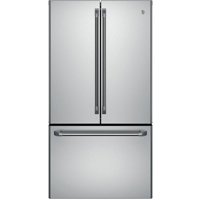 G.E. Cafe CWE23SSHSS 23.1 Cu.Ft. Stainless Counter-Depth French Door Refrigerator - CWE23SSHSS - IN STOCK