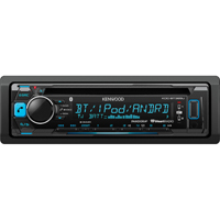 Kenwood CD receiver with AM/FM tuner & Bluetooth Connection - KDCBT365 - IN STOCK