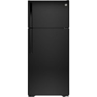 G.E. GTS18GTHBB 17.5 Cu.Ft. Black Top Freezer Refrigerator - GTS18GTHBB - IN STOCK
