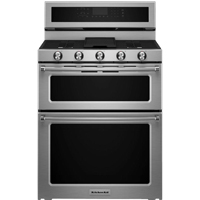 Kitchen Aid KFGD500ESS 6.0 Cu. Ft. Double Oven Gas Range - KFGD500ESS - IN STOCK