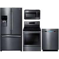 Samsung 4 Pc. Black Stainless Kitchen Package - RF263BSTKIT - IN STOCK