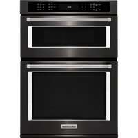 Kitchen Aid KOCE500EBS 30 in. Black Stainless Convection Wall Oven/Microwave Combination - KOCE500EBS - IN STOCK