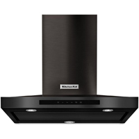 Kitchen Aid KVWB600DBS 30 in. Black Stainless Steel Wall-Mount Canopy Hood - KVWB600DBS - IN STOCK