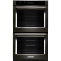 Kitchen Aid KODE500EBS 30 in. Black Stainless Convection Double Wall Oven - KODE500EBS - IN STOCK
