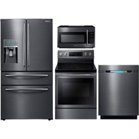 Samsung 4 Pc. Black Stainless Kitchen Package - RF28JBBSKIT2 - IN STOCK
