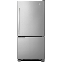 Amana ABB1921BRM 18 Cu.Ft. Stainless 29 in. Width Bottom-Freezer Refrigerator - ABB1921BRM - IN STOCK