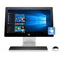 HP Pavilion 23 in. Full HD Intel Core i5-4460T, 8GB RAM, 1TB HDD, Windows 10 Touchscreen All-in-One - Recertified  - 23Q127C - IN STOCK