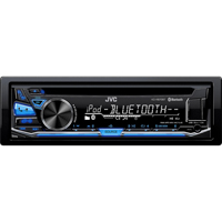 JVC Single Din Bluetooth In-Dash CD/AM/FM Car Stereo  - KDR870 - IN STOCK