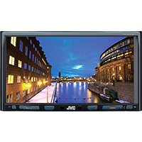 JVC 6.8 in. Double DIN Bluetooth In-Dash CD Car Stereo with SiriusXM and Bluetooth - KWV820 - IN STOCK