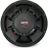 Kicker CompVR 15 in. subwoofer with dual 4-ohm voice coils - 43CVR154 - IN STOCK