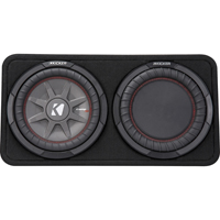 Kicker Enclosure with single 10 in. 2-ohm subwoofer and passive radiator - 43TCWRT102 - IN STOCK