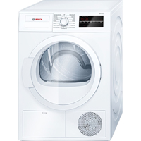 Bosch 300 Series WTG86400UC 4 Cu.Ft. 24 in. Width White Front Load Condensation Dryer - WTG86400UC - IN STOCK