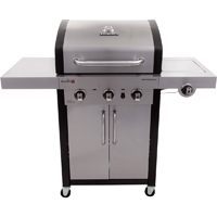 Char-Broil 25,500 BTU 3 Burner Infrared Gas Grill w/Side Burner - 463367016 / C-420IR3B - IN STOCK