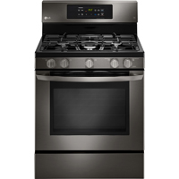 LG LRG3081BD 5.4 Cu. Ft. Black Stainless 5 Burner Freestanding Range - LRG3081BD - IN STOCK