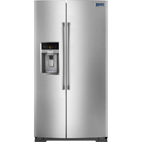 Maytag MSC21C6MDM 21 Cu. Ft. Stainless Side-by-Side Counter-Depth Refrigerator - MSC21C6MDM - IN STOCK