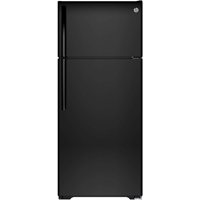 G.E. GIE18HGHBB 18 Cu. Ft. Black Top Freezer Refrigerator - GIE18HGHBB - IN STOCK