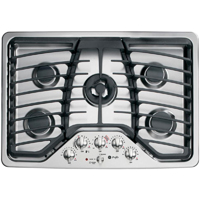 G.E. Profile PGP959SETSS 30 in. Stainless 5 Sealed Burner Gas Cooktop - PGP959SETSS - IN STOCK