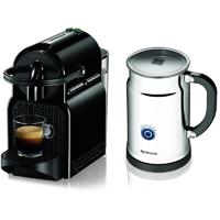 Nespresso Inissia Espresso Maker with Aeroccino Plus Milk Frother, White - A+D40-US-BK-NE / A+D40USBKNE - IN STOCK