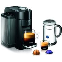 Nespresso VertuoLine Evoluo Deluxe Coffee & Espresso Maker w/ Aeroccino+ Milk Frother, Black - A+GCC1-US-BK-NE / A+GCC1USBKNE - IN STOCK