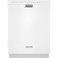 Kitchen Aid KDFE104DWH Stainless Tub White Top Control Dishwasher - KDFE104DWH - IN STOCK