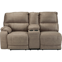 Ashley Signature Design 5740301 Bohannon Taupe Sectional Left Arm Reclining Power Loveseat - 5740301 / 5740301 - IN STOCK