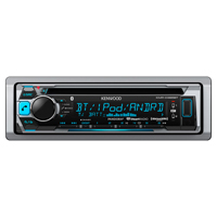 Kenwood Marine CD Receiver with Built-in Bluetooth - KMR-D365BT / KMRD365 - IN STOCK