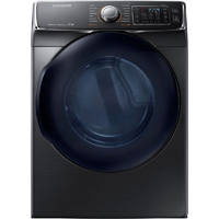 Samsung DV50K7500EV 7.5 Cu. Ft. Electric Black Stainless Front Load Steam Dryer - DV50K7500EV - IN STOCK