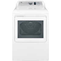 G.E. GTD65GBSJWS Gas 7.4 Cu.Ft. White High Efficiency Top Load Dryer - GTD65GBSJWS - IN STOCK