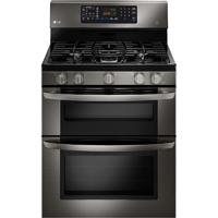LG LDG3036BD 6.1 Cu. Ft. Black Stainless 5 Burner Double Oven Gas Range - LDG3036BD - IN STOCK
