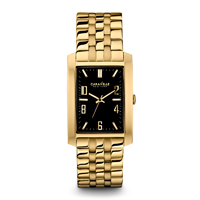 Caravelle New York Mens Gold Finish Watch - 44A103 - IN STOCK