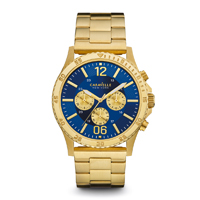 Caravelle New York Mens Gold Finish Chronograph Watch - 44A106 - IN STOCK