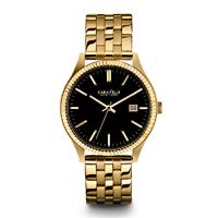 Caravelle New York Mens Gold Finish Watch - 44B105 - IN STOCK