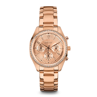 Caravelle New York Womens Rose Gold Finish Chronograph Watch - 44L117 - IN STOCK