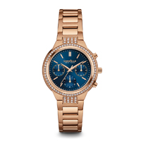 Caravelle New York Womens Rose Gold Finish Chronograph Watch - 44L181 - IN STOCK