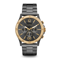 Caravelle New York Mens Gunmetal Finish Chronograph Watch - 45A119 - IN STOCK