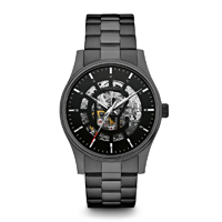 Caravelle New York Mens Gunmetal Finish Automatic Watch - 45A121 - IN STOCK
