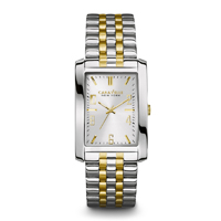 Caravelle New York Mens Silver & Gold Finish Watch - 45A123 - IN STOCK