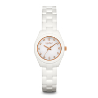 Caravelle New York Womens White Ceramic Finish Watch - 45L159 - IN STOCK