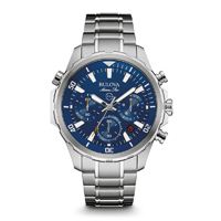Bulova Mens Stainless Steel Marine Star Chronograph Watch - 96B256 - IN STOCK