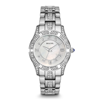 Bulova Womens Stainless Steel Crystal Watch - 96L116 - IN STOCK
