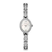 Bulova Womens Stainless Steel Crystal Watch - 96L199 - IN STOCK