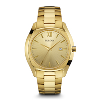 Bulova Mens Gold Finish Watch - 97B146 - IN STOCK