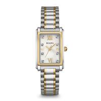 Bulova Womens Silver Analog Display Quartz Two Tone Watch - 98P144 - IN STOCK