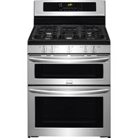 Frigidaire Gallery FGGF304DPF 5.9 Cu. Ft. Stainless Double Oven Gas Range - FGGF304DPF - IN STOCK