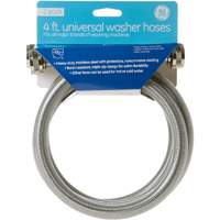 G.E. 4 Ft. Washing Machine Stainless Steel Hoses (2 Pk.) - PM14X10005 / SS4FTWASHER2 - IN STOCK
