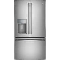 G.E. Profile PFE28KSKSS 27.8 Cu. Ft. Stainless French-Door Refrigerator - PFE28KSKSS - IN STOCK
