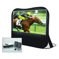 Sima XLPRO84 Projector & 84 in. Inflatable Screen Kit with Speakers & Carry Bag - XL-PRO84 / XLPRO84 - IN STOCK