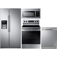 Samsung 4 Pc. Stainless Kitchen Package - RS25J500KIT2 - IN STOCK