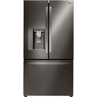 LG LFXC24726D 24 Cu. Ft. Black Stainless French Door Refrigerator - LFXC24726D - IN STOCK