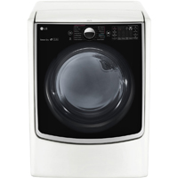 LG DLEX5000W Electric 7.4 Cu. Ft. White Front Load Steam Dryer - DLEX5000W - IN STOCK